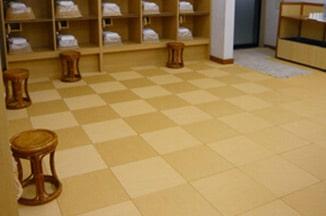 防炎洗えるタイル畳