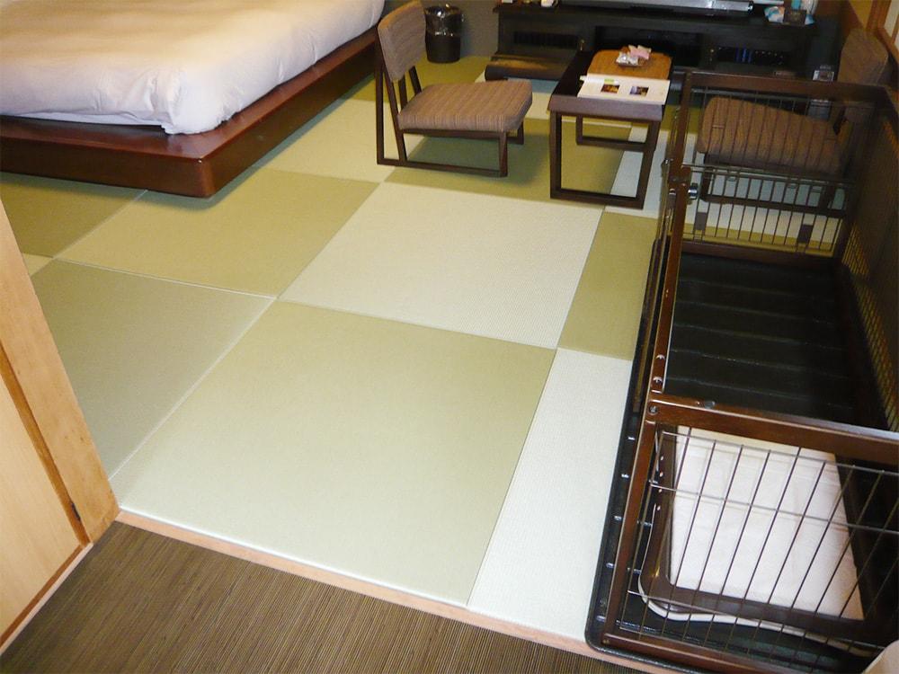 静岡県ペットホテルウォッシャブル畳「きよらか」(へりなし)